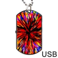 Color Batik Explosion Colorful Dog Tag Usb Flash (two Sides)