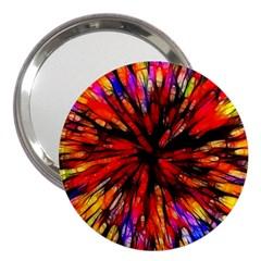Color Batik Explosion Colorful 3  Handbag Mirrors