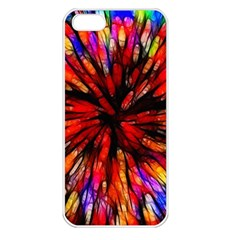 Color Batik Explosion Colorful Apple Iphone 5 Seamless Case (white)