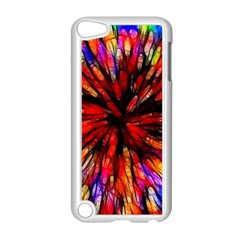 Color Batik Explosion Colorful Apple Ipod Touch 5 Case (white)