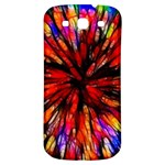 Color Batik Explosion Colorful Samsung Galaxy S3 S III Classic Hardshell Back Case Front