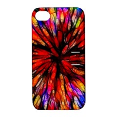Color Batik Explosion Colorful Apple Iphone 4/4s Hardshell Case With Stand