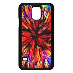 Color Batik Explosion Colorful Samsung Galaxy S5 Case (black)
