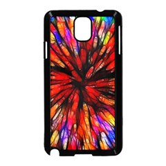 Color Batik Explosion Colorful Samsung Galaxy Note 3 Neo Hardshell Case (Black)