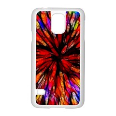 Color Batik Explosion Colorful Samsung Galaxy S5 Case (white)