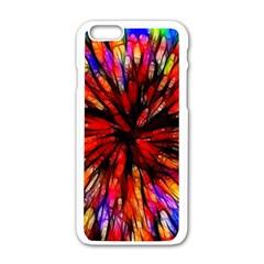 Color Batik Explosion Colorful Apple iPhone 6/6S White Enamel Case