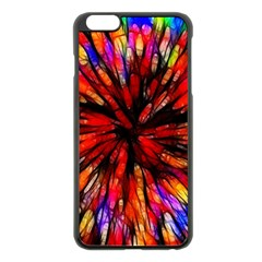 Color Batik Explosion Colorful Apple Iphone 6 Plus/6s Plus Black Enamel Case