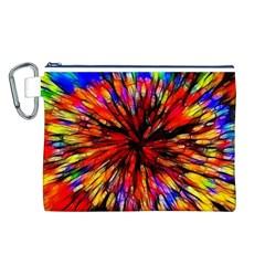 Color Batik Explosion Colorful Canvas Cosmetic Bag (l)