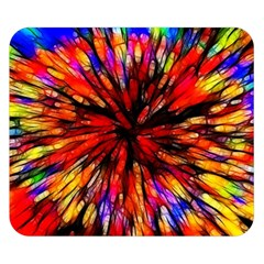 Color Batik Explosion Colorful Double Sided Flano Blanket (small)