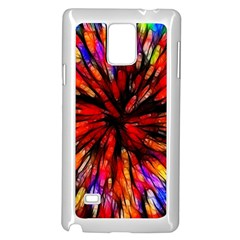 Color Batik Explosion Colorful Samsung Galaxy Note 4 Case (white)