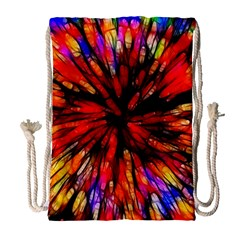 Color Batik Explosion Colorful Drawstring Bag (Large)