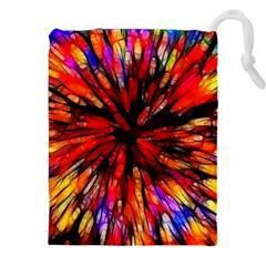 Color Batik Explosion Colorful Drawstring Pouches (xxl)