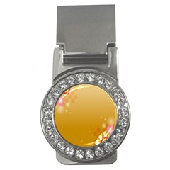 Flower Arrangements Season Floral Orange Money Clips (CZ)