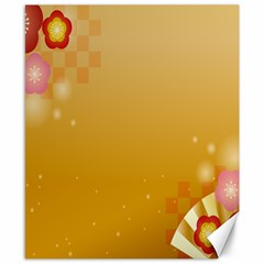 Flower Arrangements Season Floral Orange Canvas 8  x 10