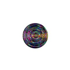Wave Line Colorful Brush Particles 1  Mini Magnets