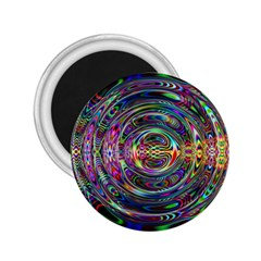 Wave Line Colorful Brush Particles 2.25  Magnets