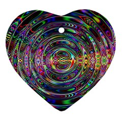Wave Line Colorful Brush Particles Ornament (heart)