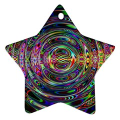 Wave Line Colorful Brush Particles Ornament (star)