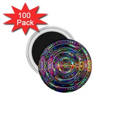 Wave Line Colorful Brush Particles 1 75  Magnets (100 Pack)