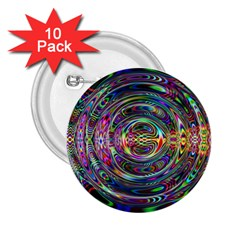 Wave Line Colorful Brush Particles 2 25  Buttons (10 Pack)