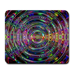 Wave Line Colorful Brush Particles Large Mousepads