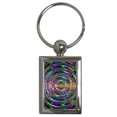 Wave Line Colorful Brush Particles Key Chains (rectangle)