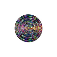 Wave Line Colorful Brush Particles Golf Ball Marker (4 pack)
