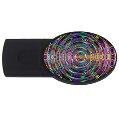 Wave Line Colorful Brush Particles Usb Flash Drive Oval (4 Gb)