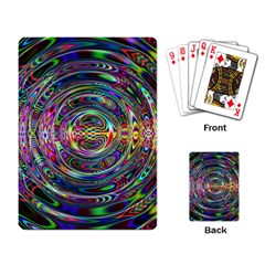 Wave Line Colorful Brush Particles Playing Card