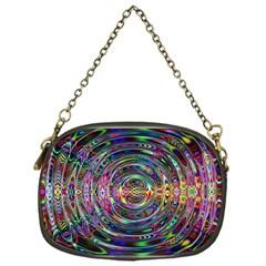 Wave Line Colorful Brush Particles Chain Purses (one Side)