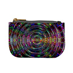 Wave Line Colorful Brush Particles Mini Coin Purses