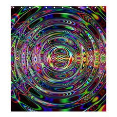 Wave Line Colorful Brush Particles Shower Curtain 66  X 72  (large)