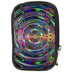 Wave Line Colorful Brush Particles Compact Camera Cases
