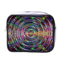 Wave Line Colorful Brush Particles Mini Toiletries Bags