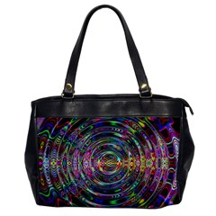 Wave Line Colorful Brush Particles Office Handbags