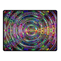 Wave Line Colorful Brush Particles Fleece Blanket (small)