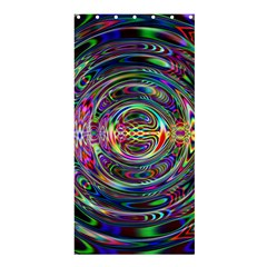 Wave Line Colorful Brush Particles Shower Curtain 36  X 72  (stall)