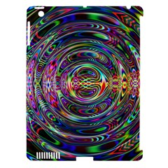 Wave Line Colorful Brush Particles Apple Ipad 3/4 Hardshell Case (compatible With Smart Cover)