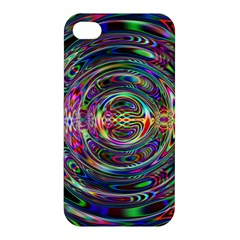Wave Line Colorful Brush Particles Apple Iphone 4/4s Premium Hardshell Case