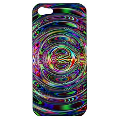 Wave Line Colorful Brush Particles Apple iPhone 5 Hardshell Case