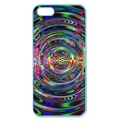 Wave Line Colorful Brush Particles Apple Seamless Iphone 5 Case (color)