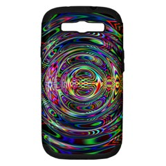 Wave Line Colorful Brush Particles Samsung Galaxy S Iii Hardshell Case (pc+silicone)