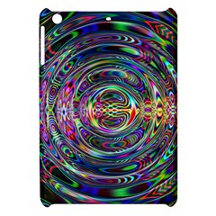 Wave Line Colorful Brush Particles Apple Ipad Mini Hardshell Case