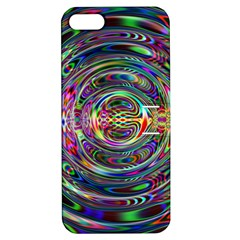 Wave Line Colorful Brush Particles Apple Iphone 5 Hardshell Case With Stand