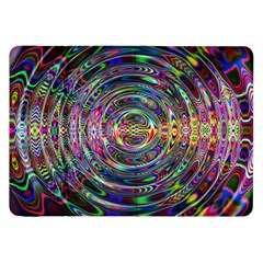 Wave Line Colorful Brush Particles Samsung Galaxy Tab 8 9  P7300 Flip Case