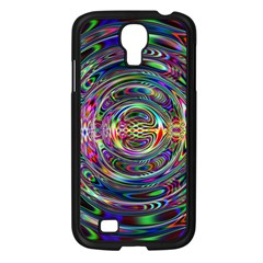 Wave Line Colorful Brush Particles Samsung Galaxy S4 I9500/ I9505 Case (black)