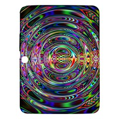 Wave Line Colorful Brush Particles Samsung Galaxy Tab 3 (10 1 ) P5200 Hardshell Case