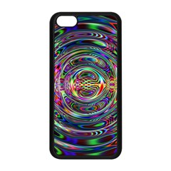 Wave Line Colorful Brush Particles Apple Iphone 5c Seamless Case (black)
