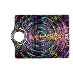 Wave Line Colorful Brush Particles Kindle Fire Hd (2013) Flip 360 Case