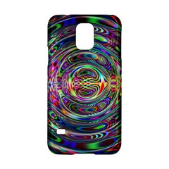 Wave Line Colorful Brush Particles Samsung Galaxy S5 Hardshell Case